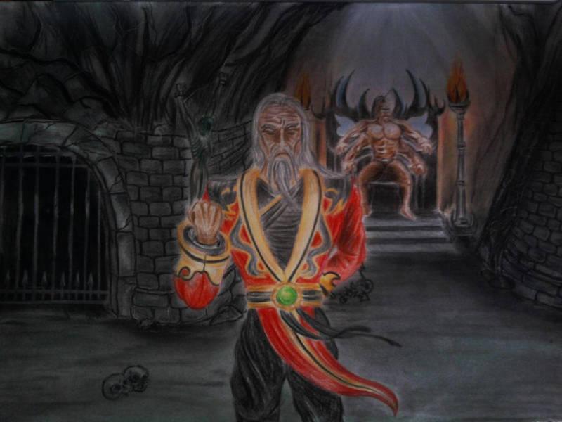 Shang Tsung and Goro by DanloS