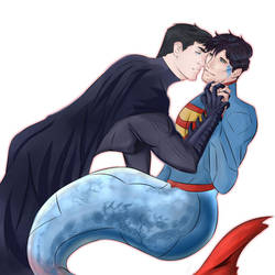 Mermaid Superman by KatsuyaCrimson