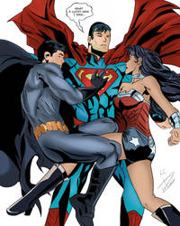 What a Lucky Man I was - DC Trinity by KatsuyaCrimson