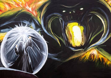Gandalf vs Balrog by sandertulk