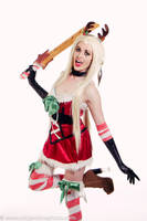 Katarina Sleigh Belle Skin Christmas Cosplay by BabyGirlFallenAngel