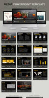 Media Powerpoint template by kh2838