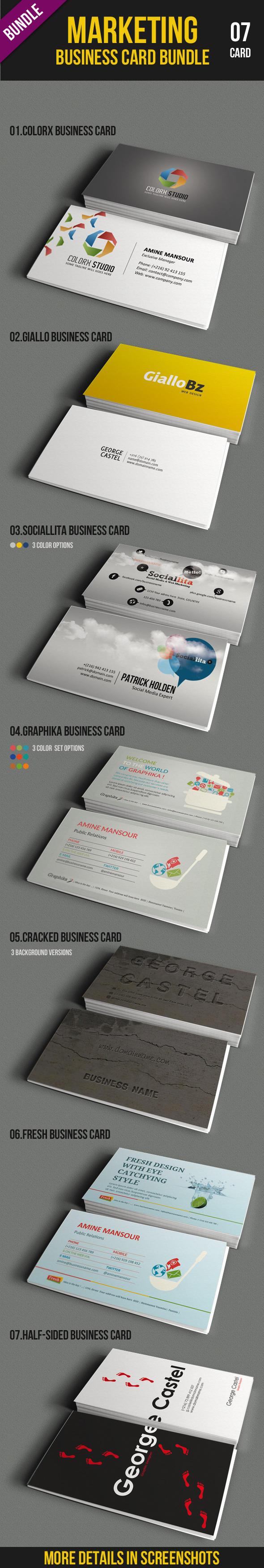 Marketing Business Card Bundle by kh2838