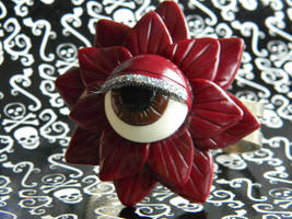 I Got My Eye On You-Polymer Clay-Halloween by ThePetiteShop
