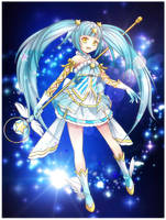 Commission 2012 - Star Angel Maki by BlackTeaDoll