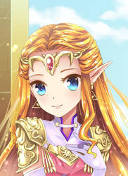 Commission: Princess Zelda by BlackTeaDoll