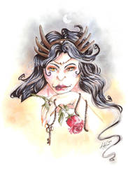 Bronze coiffed Hekate by ArsenicsamA