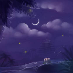 Moonlight night by Ren-ail