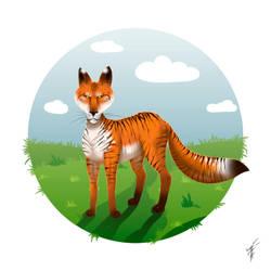 Tiger fox by Ren-ail
