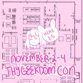 ThyGeekdomCon Table! E3 by UsagiYogurt