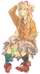 Anime Render #11 - Luna Lovegood (Harry Potter) by ditzydaffy