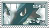 Lucario Stamp by revolutionX1600