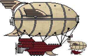 Steampunk Zeppelin by LeetZero