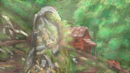Cabin in the woods by LeetZero