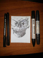 Gazing Skull by LeetZero