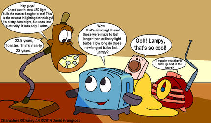 The Brave Little Toaster - Lampy's New LED Bulb by tpirman1982