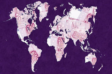 World map made with euro by yko-54