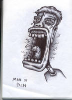 Man in Pain - Biro by Jamdeski