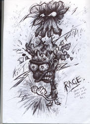 Rage - Biro by Jamdeski