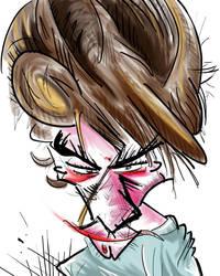 Cartoon Self Portrait by Jamdeski