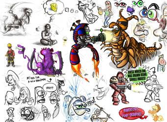 Doodles 2 by Jamdeski