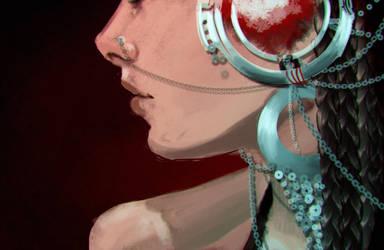 Tribal earrings by Odrobinka