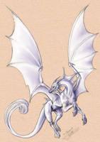 dragon blanc aux yeux rouge by Xx-tatooz-xX