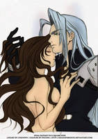 Aerith and Sephiroth by asianaphrodite