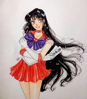 Sailor Mars by missjuju-art