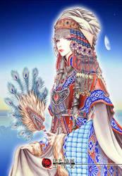 Peacock Princess by qianyu