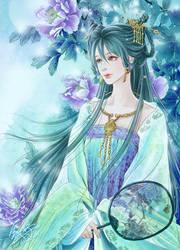 Moon flowers by qianyu