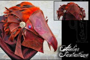 Horus bird leather mask by AtelierFantastique