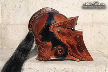 Leather helmet by AtelierFantastique