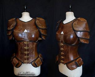 Light brown feminine armor by AtelierFantastique