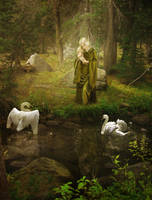 Swan Maiden by JinxMim