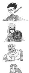 Teen Titans by starbuxx