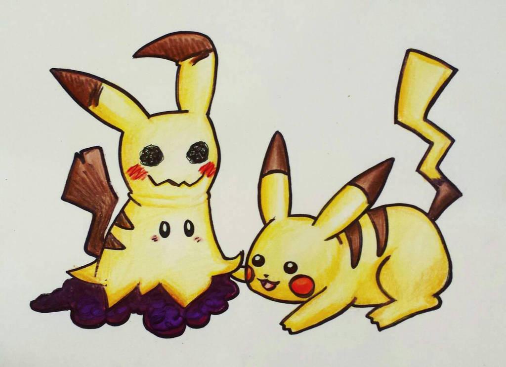 Mimikyu And Pikachu By Starbuxx On Deviantart