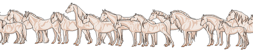 Mini Pixel Horse Base - 16 Breeds and foal by HypoHunter