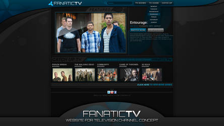 Fanatic TV - Website Concept by StratzDesigns