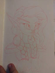 style practice: blood elf WoW by Tulpi
