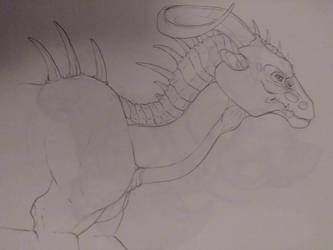 dragon sketch  by Tulpi