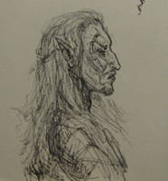 Dunmer in Profile by BlueOakRogue