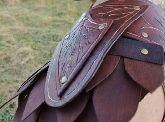 Copsewatch Druid Armor Detail: Left shoulder by BlueOakRogue