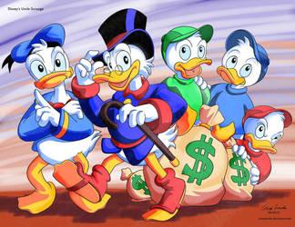 ArtForce Pre 1960s Jam Disney's Uncle Scrooge by coreylandis
