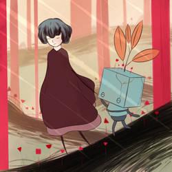 [FanArt] A friend - GRIS by Ximeon
