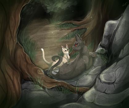RiverClan's scene by Kocurzyca