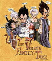 The Vegeta Family: Colored by SL-i-P