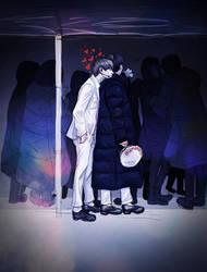 V and J-Hope ( BTS) by Yana15