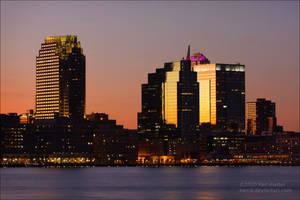 Sunset - Jersey City by Karl-B