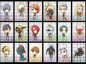 Persona 3 Chibis by cika